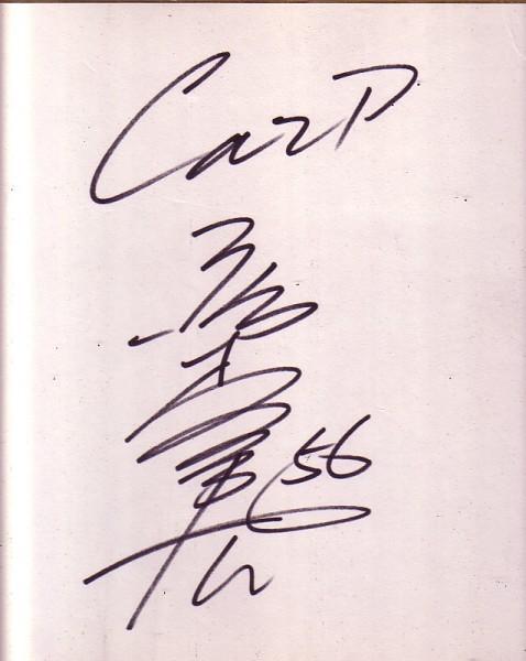 広島東洋カープOB 選手名不明 背番号56 サイン色紙(直筆)_画像1