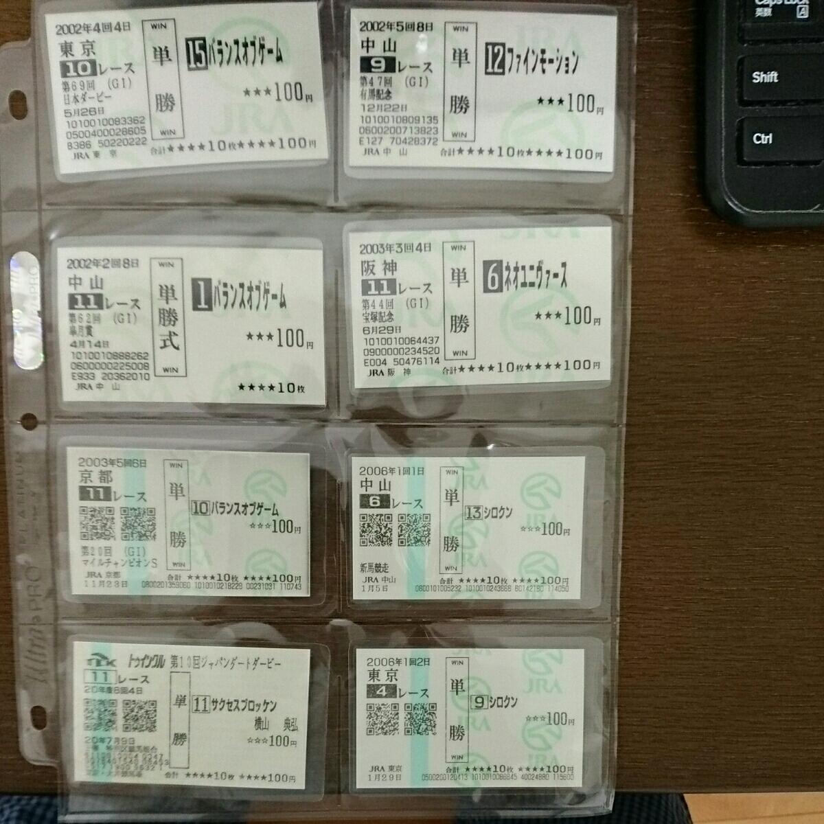 単勝馬券 多数 ラミネート加工済み(アルバム付)_画像3
