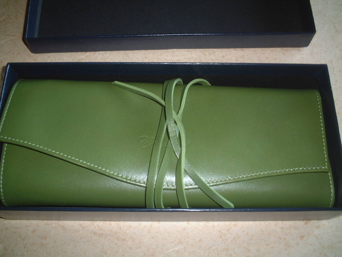 Price reduction Chopard jewelry case novelty Calm green calf beauty item with box