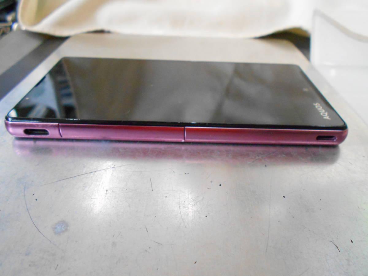 SoftBank ソフトバンク Sharp シャープ 503SH アクオスAQUOS Xx2 mini ピンク 判定◯ 中古スマホ 壱 傷擦れ等有_画像2