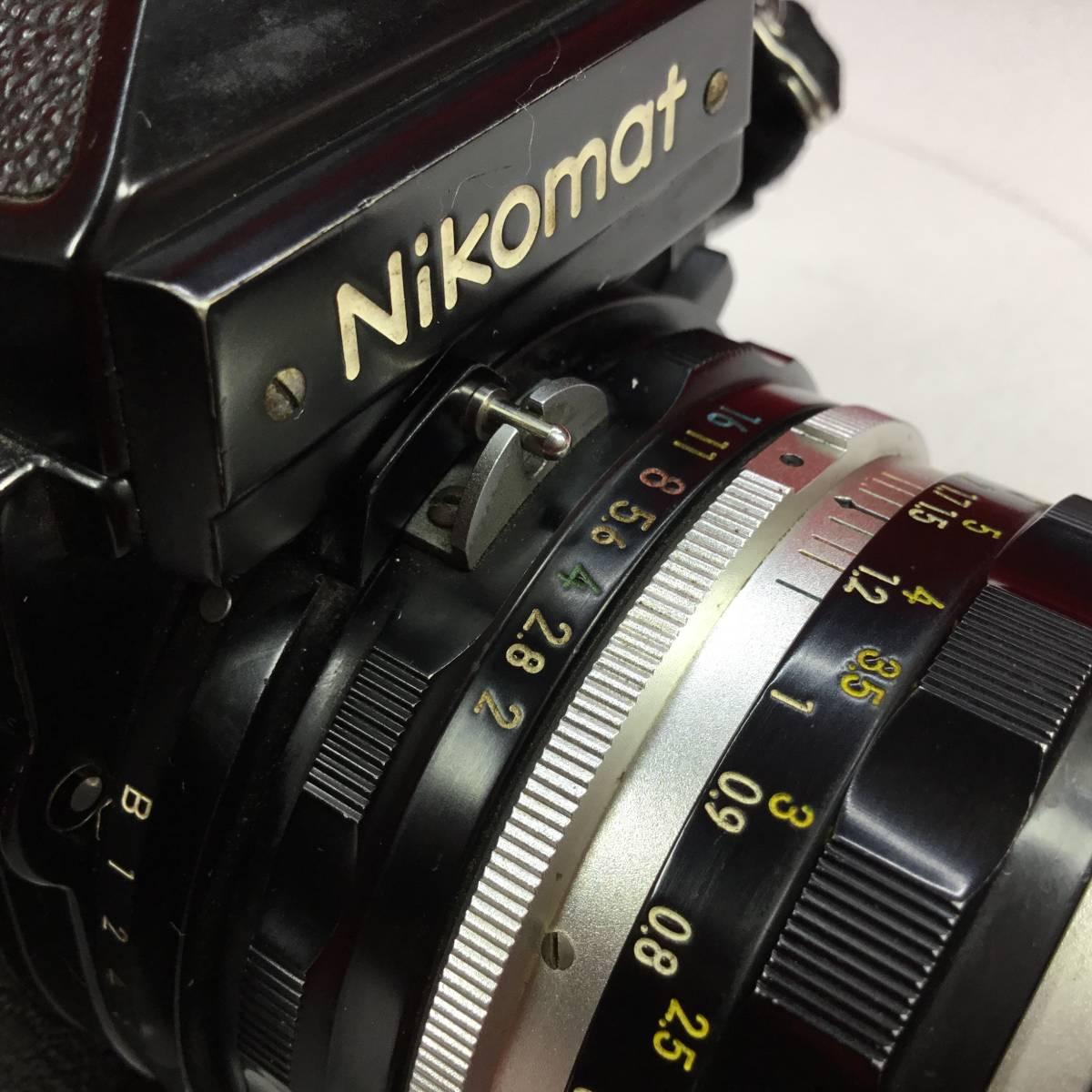 一眼レフカメラ Nikomat FT レンズ Nikon NIKKOR-H Auto 1:2 f=50mm ニコマート_画像7
