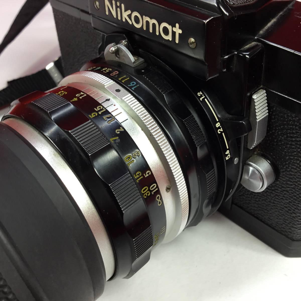一眼レフカメラ Nikomat FT レンズ Nikon NIKKOR-H Auto 1:2 f=50mm ニコマート_画像8