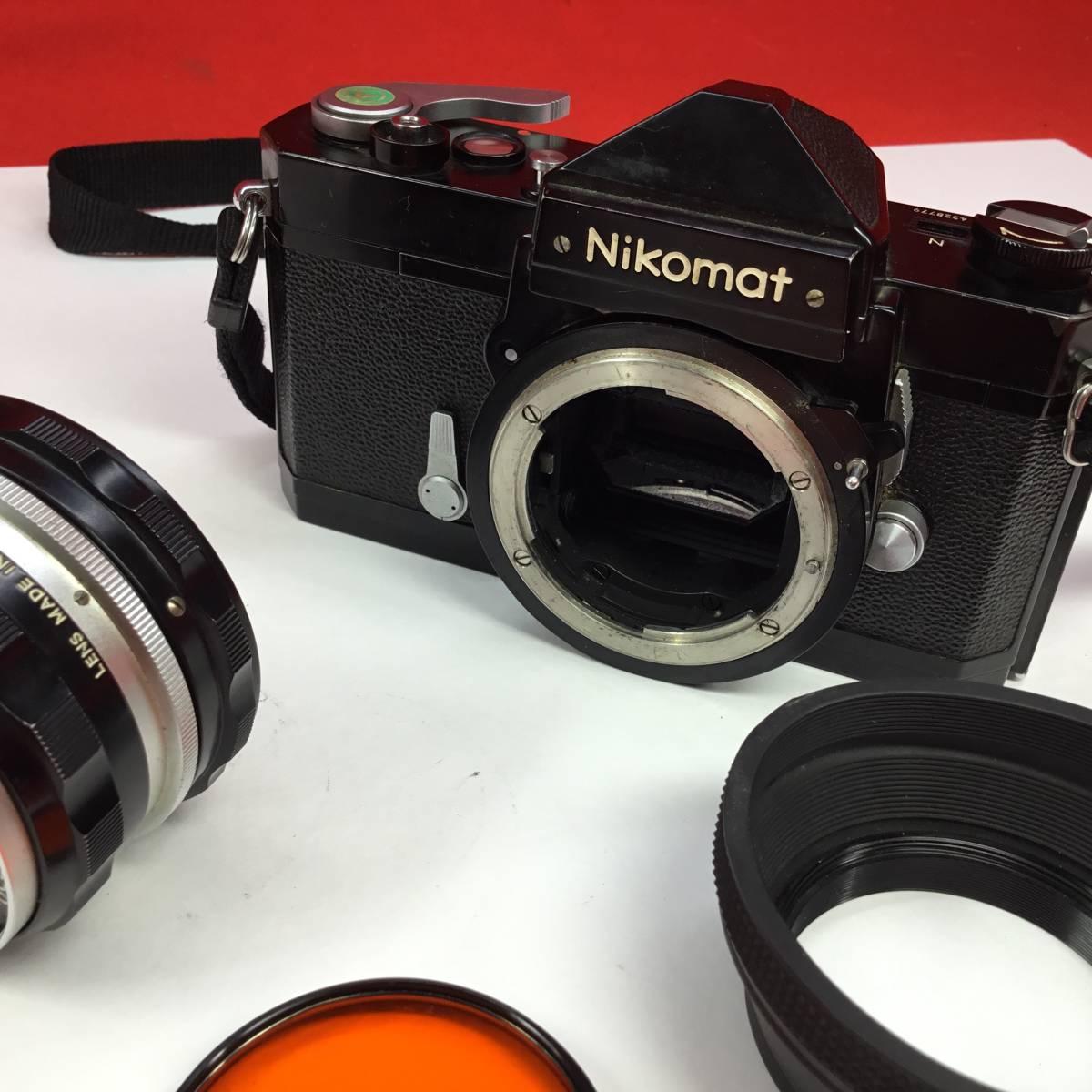 一眼レフカメラ Nikomat FT レンズ Nikon NIKKOR-H Auto 1:2 f=50mm ニコマート_画像9