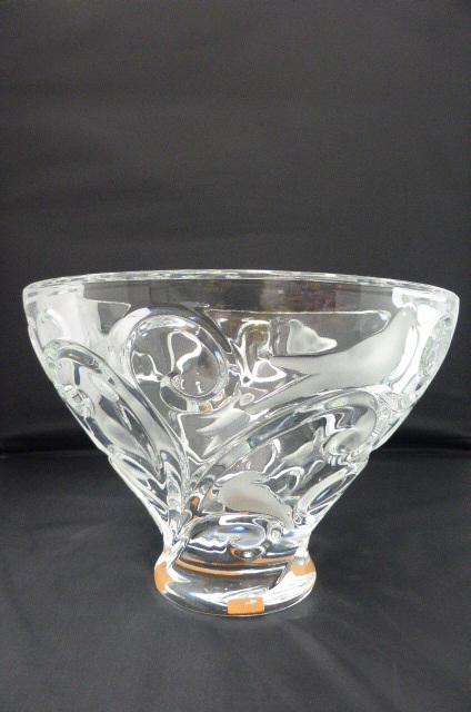 ★未使用保管品★ ラリック Lalique  クリスタル ボウル 鉢 花器  ヴェロンヌ クリア 1121800 クリスタルガラス 定価約50万