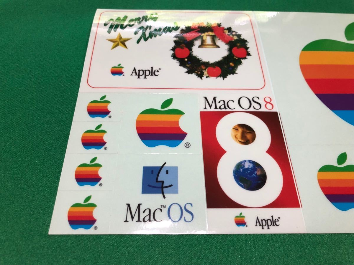 ☆.激レア・:* Apple Computer Mac OS 8 発売記念 1997 クリスマス シール Merry X'mas Seal ☆.・:* Xmas表記が間違っている貴重なシール_画像2