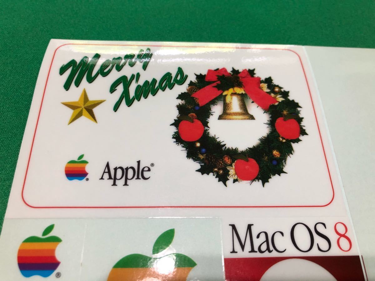 ☆.激レア・:* Apple Computer Mac OS 8 発売記念 1997 クリスマス シール Merry X'mas Seal ☆.・:* Xmas表記が間違っている貴重なシール_画像4
