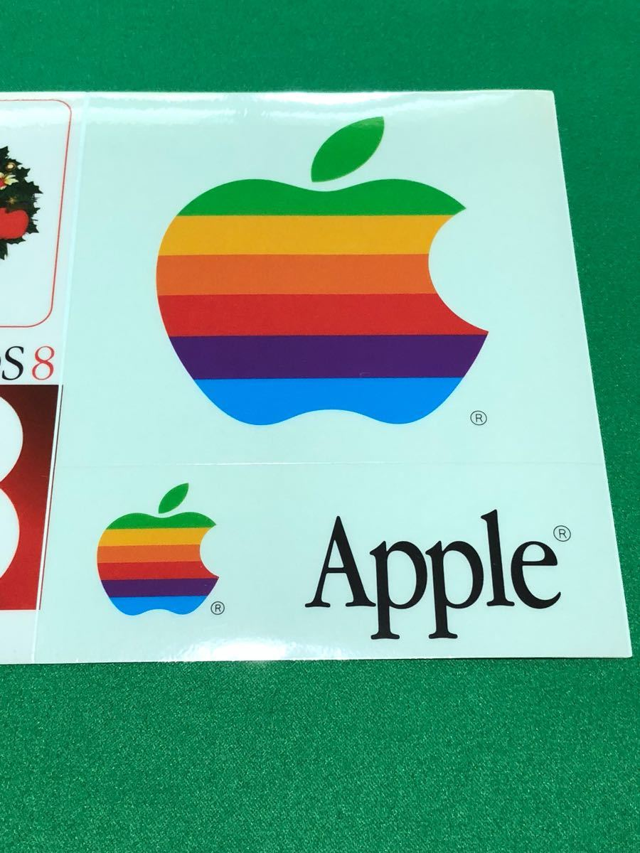 ☆.激レア・:* Apple Computer Mac OS 8 発売記念 1997 クリスマス シール Merry X'mas Seal ☆.・:* Xmas表記が間違っている貴重なシール_画像3