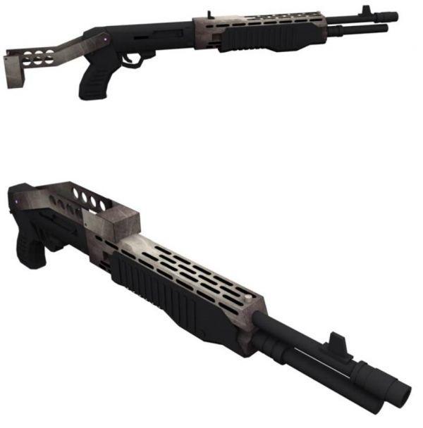 模型 ペーパークラフト 高級防水紙 工作 spas12 散弾銃_画像1