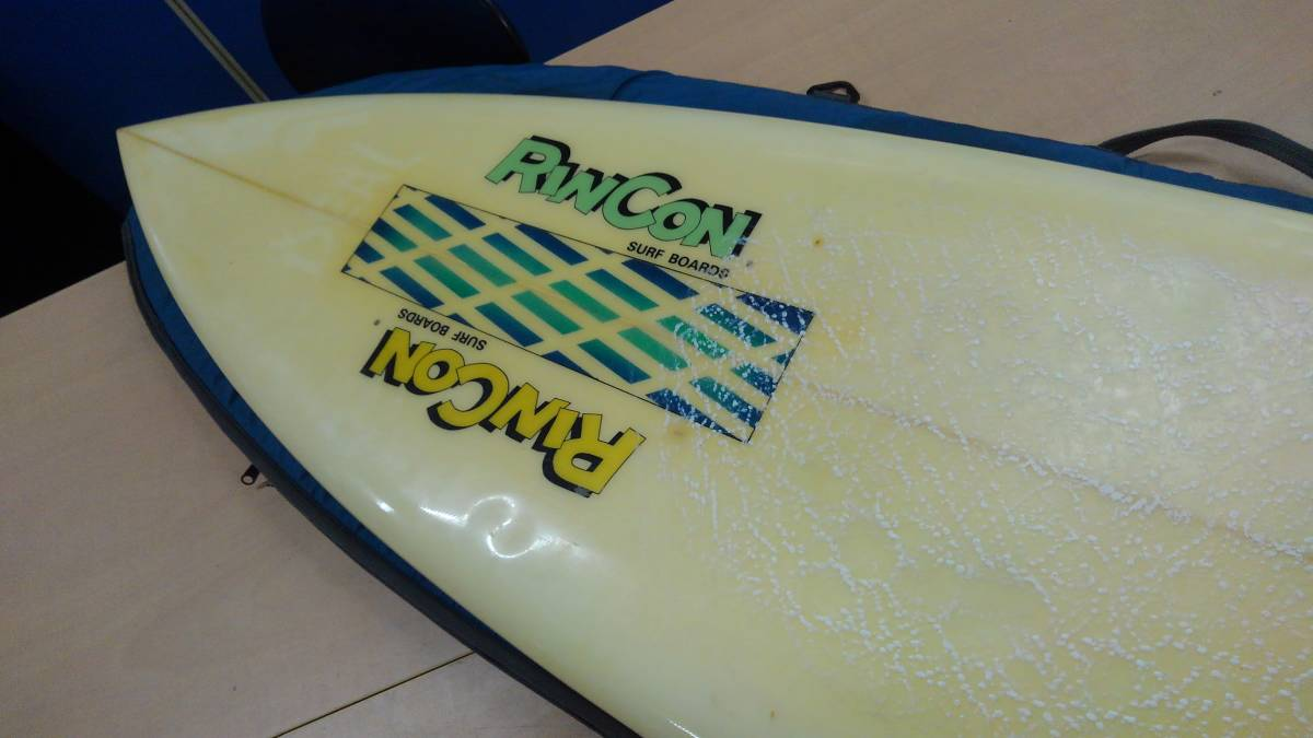 RINCON リンコン サーフボード ビンテージ クラシック シングルフィン レトロ ショート カリフォルニア クリア仕上げ 引き取り_画像3