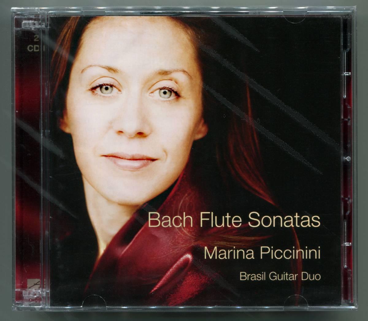 ☆送料込/未開封/ マリーナ・ピッチニーニ&ブラジル・ギター・デュオ Marina Piccinini & Brasil Guitar Duo / Bach Flute Sonatas 2CD_画像1