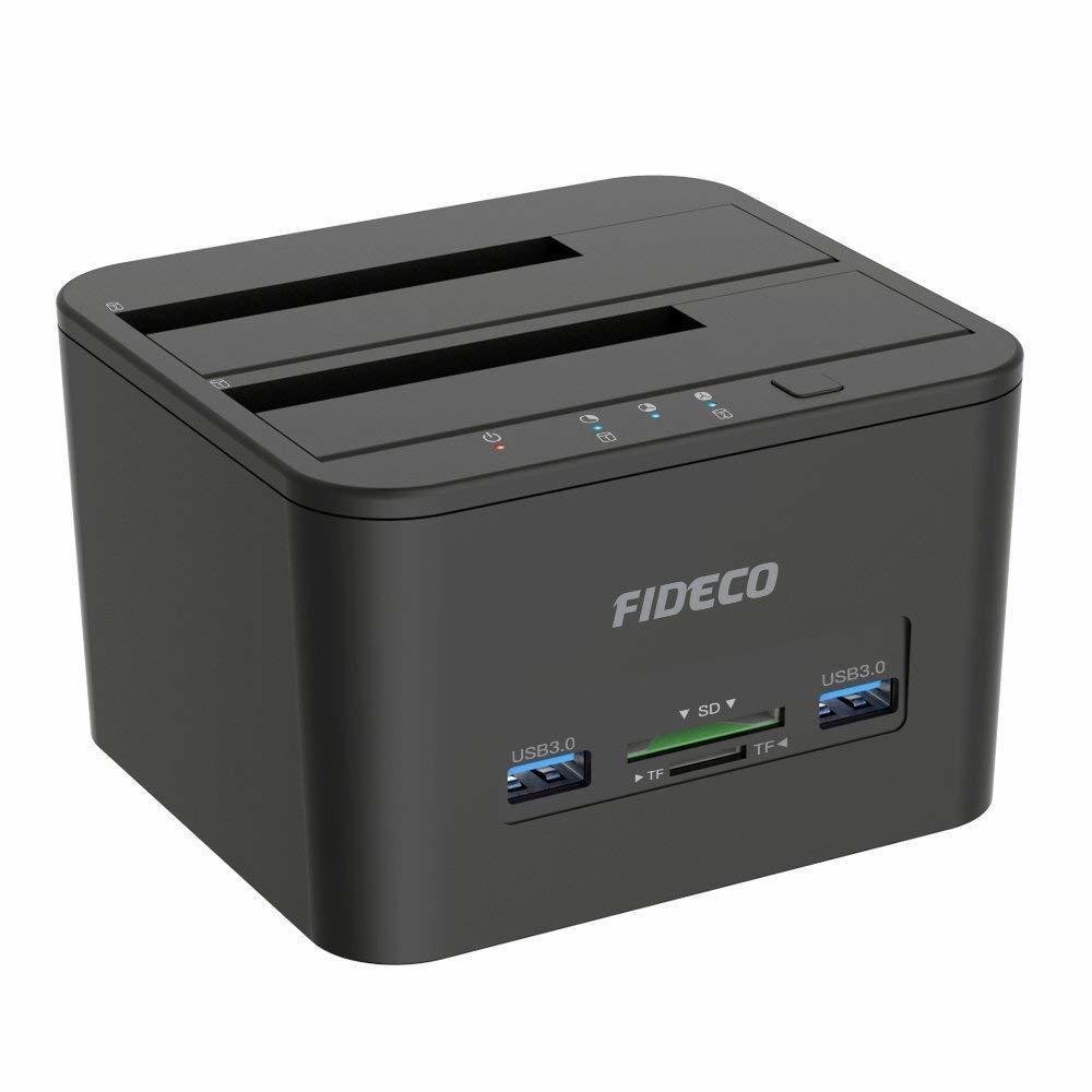 【新品 1円~】ハードドライブ ドッキングステーション USB 3.0 SDカード HDD ドックオフラインクローン機能 デュアルベイ ポイント消化_画像8