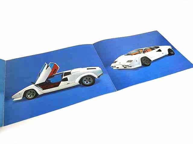 ランボルギーニ/Lamborghini Countach LP500S海外三つ折りカタログ★中古品★0605_画像3