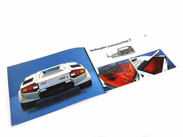 ランボルギーニ/Lamborghini Countach LP500S海外三つ折りカタログ★中古品★0605_画像2