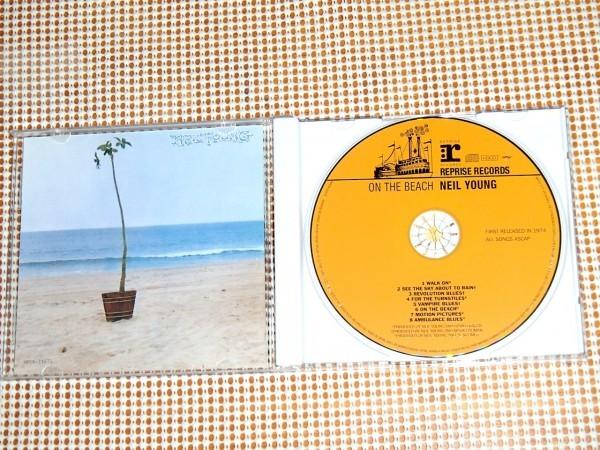 廃盤高音質 HDCD Neil Young ニール ヤング On The Beach 渚にて / Ben Keith ( Borderline ) Tim Drummond ( dapps ) Ralph Molina 参加_画像2