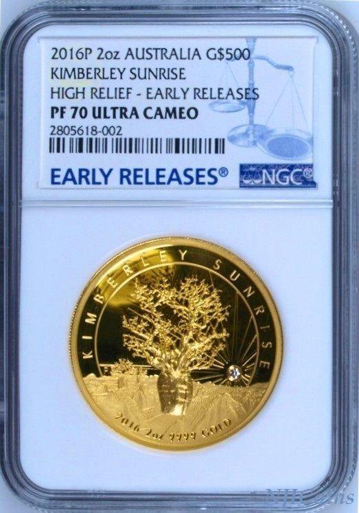 キンバリーサンライズ オーストラリア コイン 2016 ビンテージ ヴィンテージ  限定 レア 入手困難 金貨_画像1