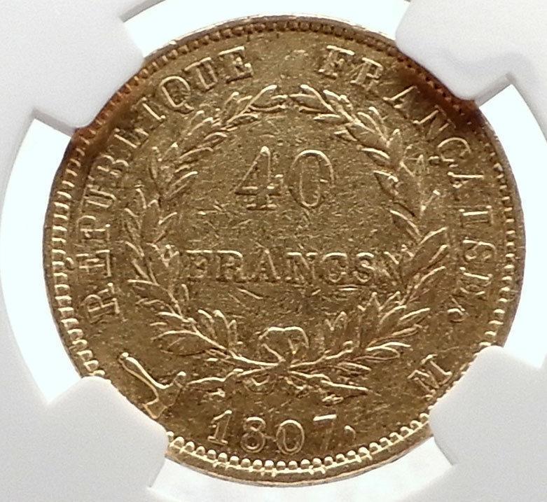 ナポレオン 1807年  コイン  ビンテージ ヴィンテージ  限定 レア 入手困難 金貨 Napoleon_画像2