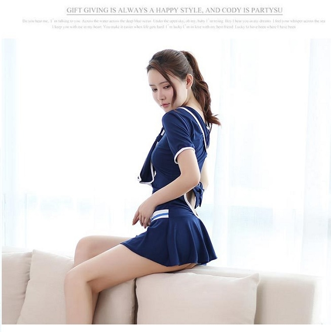 エロカワ 女子高生 制服 JK 学生 コスチューム コスプレ衣装 V-17_画像2