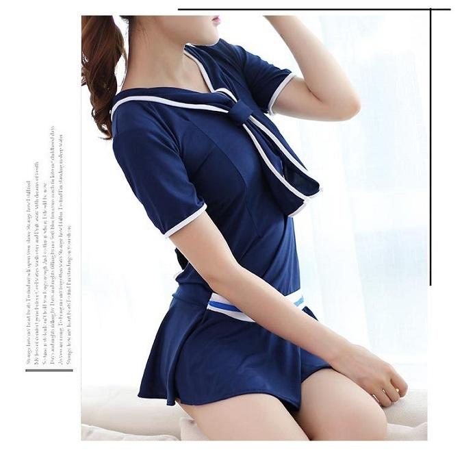 エロカワ 女子高生 制服 JK 学生 コスチューム コスプレ衣装 V-17_画像3