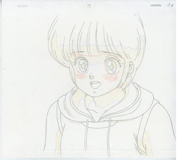 『きまぐれオレンジ★ロード』OVA 檜山ひかるのセル画です。背景・動画付。_画像2
