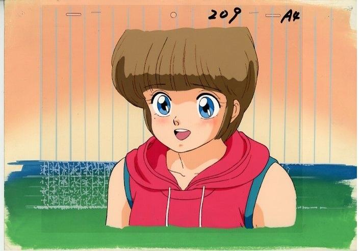 『きまぐれオレンジ★ロード』OVA 檜山ひかるのセル画です。背景・動画付。_画像1