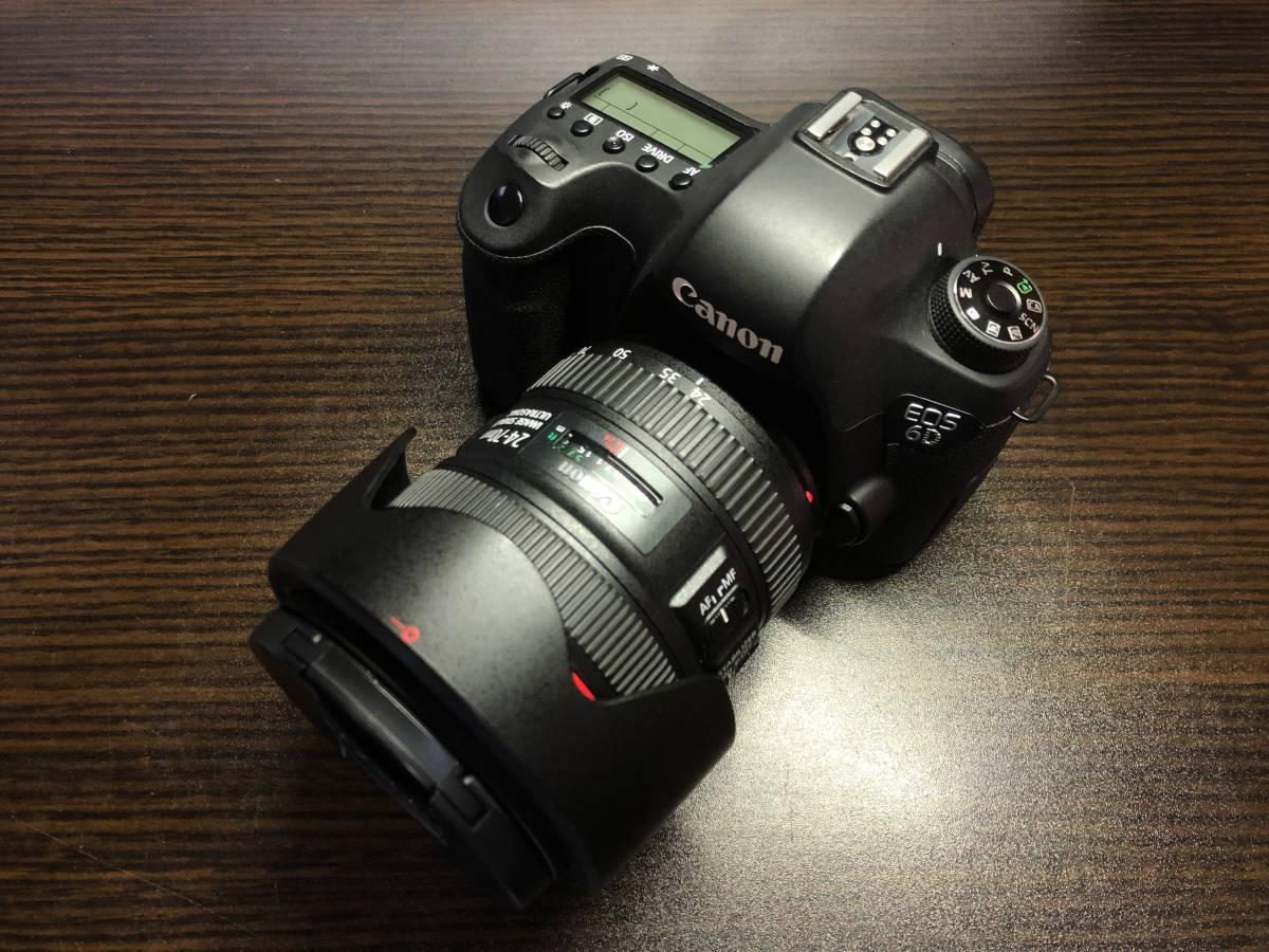 【美品・送料無料】Canon EOS 6D EF 24-70 L IS USM レンズ キット レンズ保護フィルター付