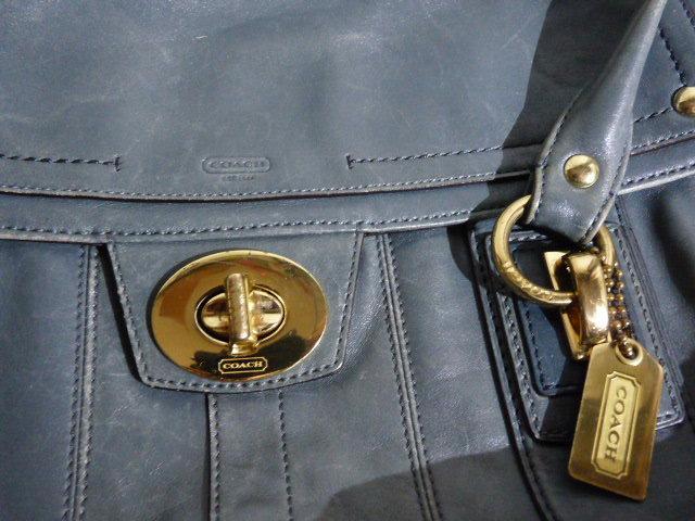 ... COACH  сумка для покупок ● кожа /... зеленый / подержанный товар