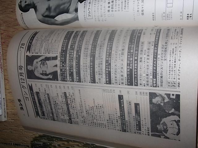 日刊スポーツ。月刊ゴング1978年12月号。プロレス。マスカラス。馬場。猪木_画像7