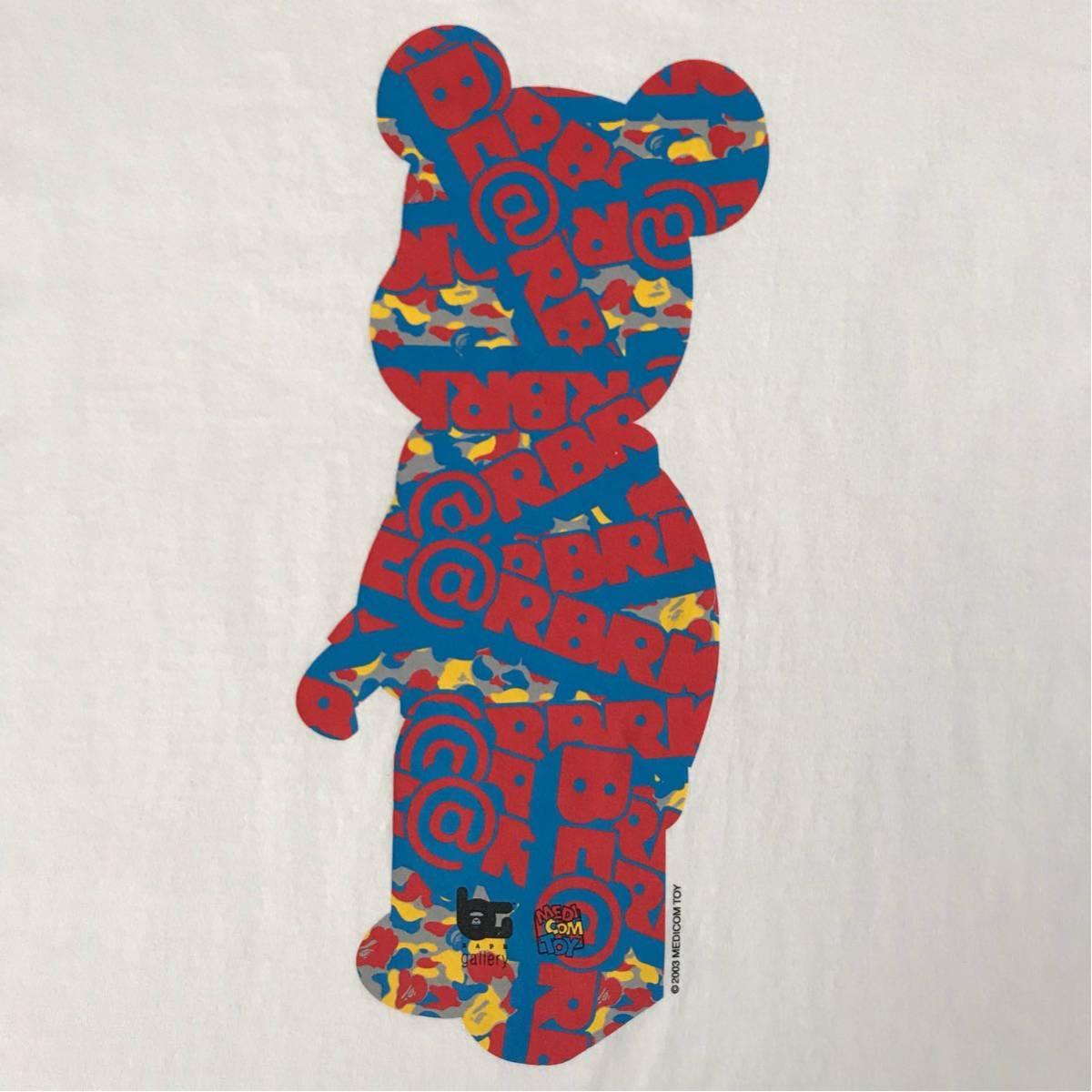 ★激レア★ medicom toy × bape gallery キューブリック Tシャツ XLサイズ a bathing ape エイプ ベイプ アベイシングエイプ ベアブリック_画像2