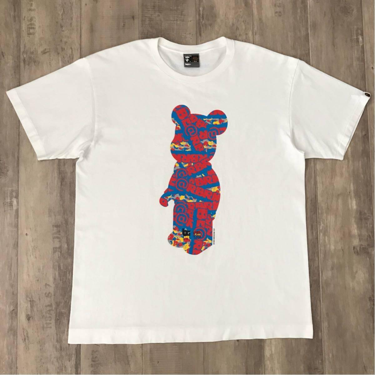 ★激レア★ medicom toy × bape gallery キューブリック Tシャツ XLサイズ a bathing ape エイプ ベイプ アベイシングエイプ ベアブリック_画像1