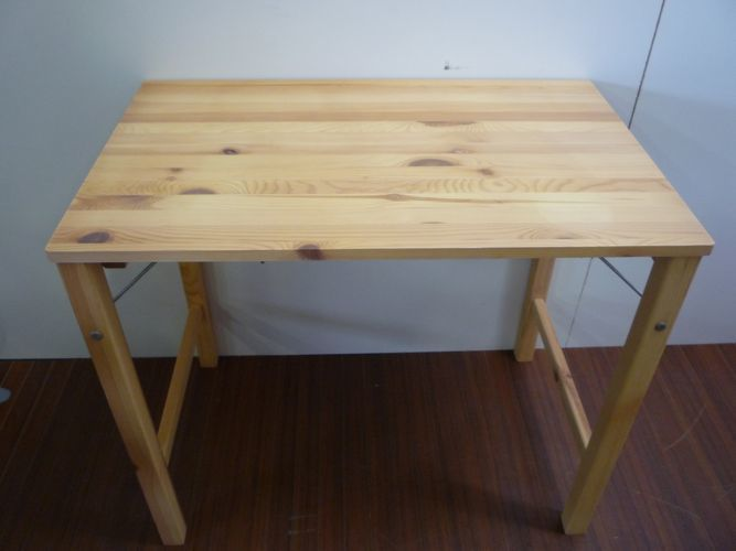 【C4-1814】無印良品 パイン材折りたたみ式テーブル 幅80×奥行50×高さ70cm