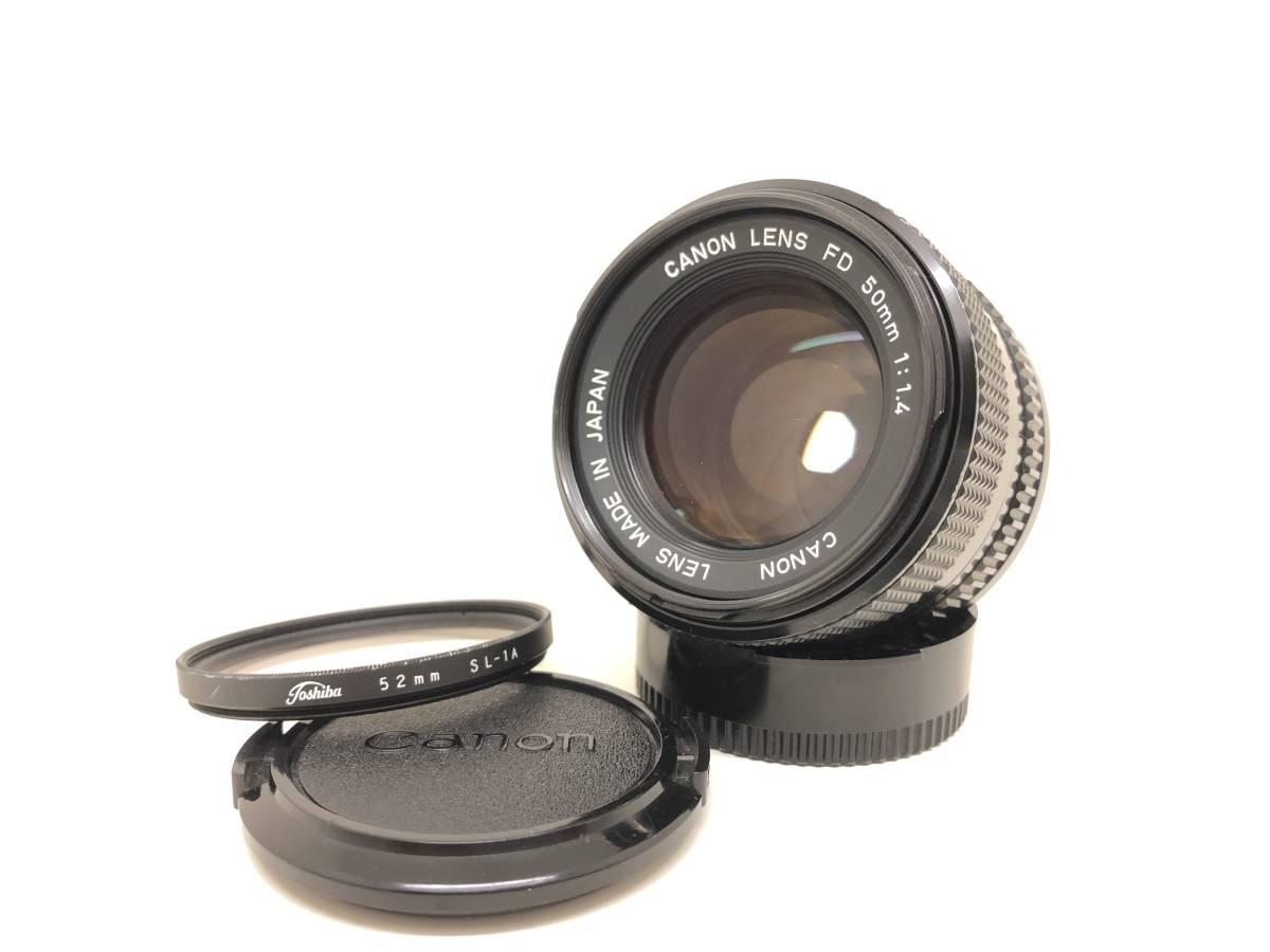 キャノン Canon LENS New FD 50mm F1.4 ★美品★動作OK★