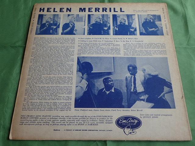 青バック、銀冠:US Emarcy mono dg HELEN MERRILL_画像2