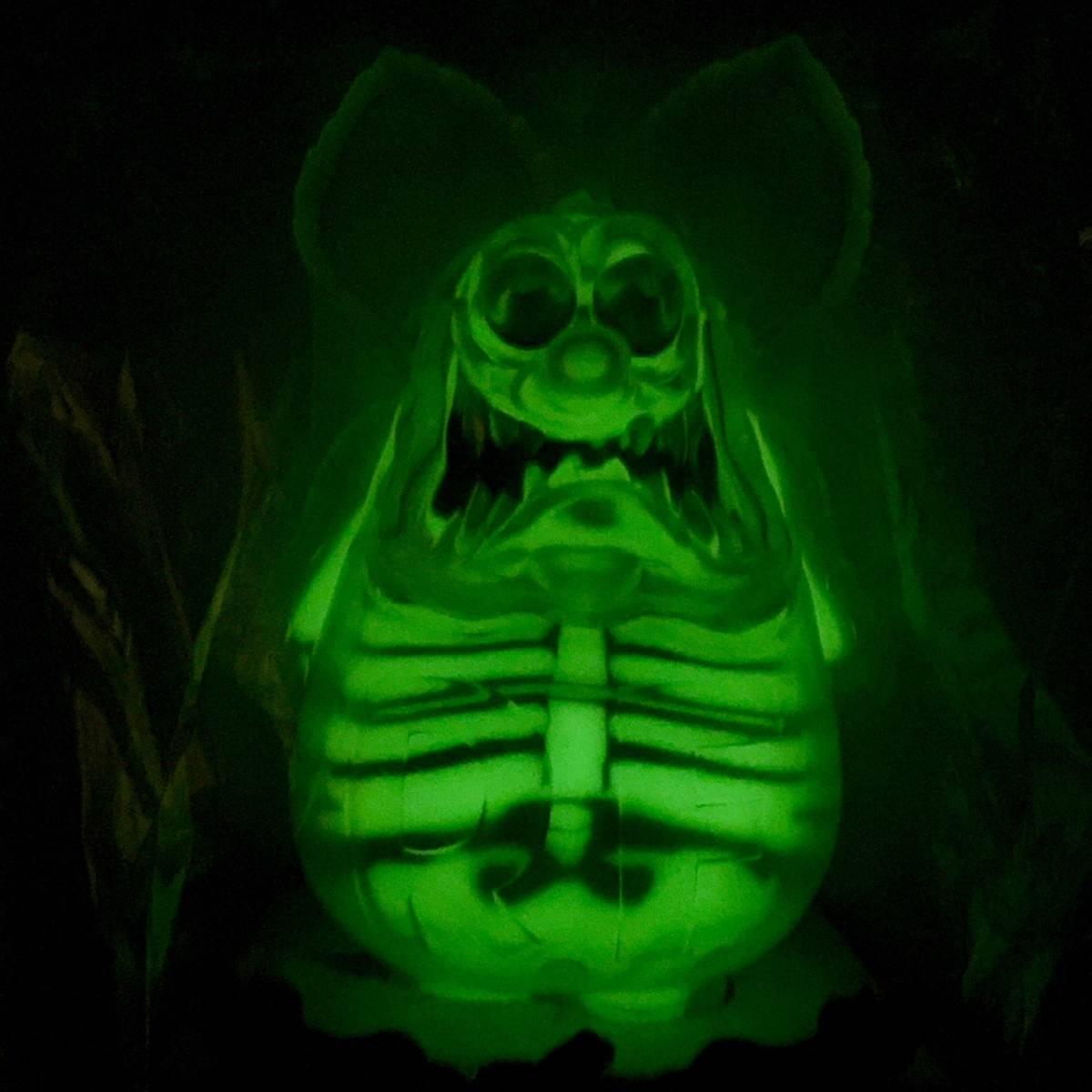 RAT FINK SECRET BASE MOONEYES 正規品 x-ray エックスレイドール ソフビ フィギュア クリア イエロー シークレットベース ラットフィンク_画像2