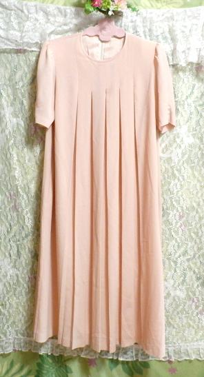 ピンクロング半袖チュニック/ワンピース Pink long short sleeve tunic onepiece_画像2