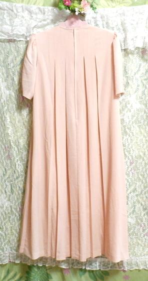 ピンクロング半袖チュニック/ワンピース Pink long short sleeve tunic onepiece_画像3