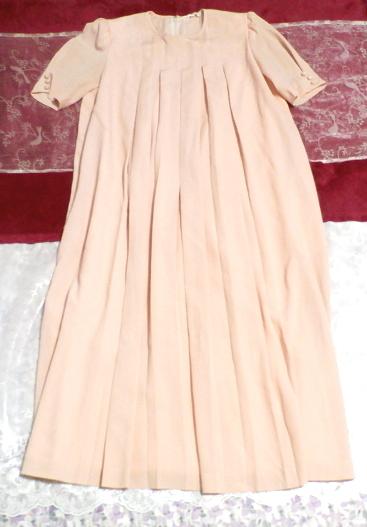 ピンクロング半袖チュニック/ワンピース Pink long short sleeve tunic onepiece_画像1