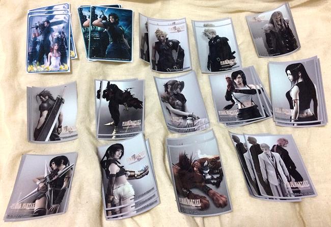 ファイナルファンタジー7 FF7 Ⅶ カード スリーブ 20種 各3枚 ダンガンロンパ ソードアートオンライン クラウド セフィロス エアリス 60枚_画像9