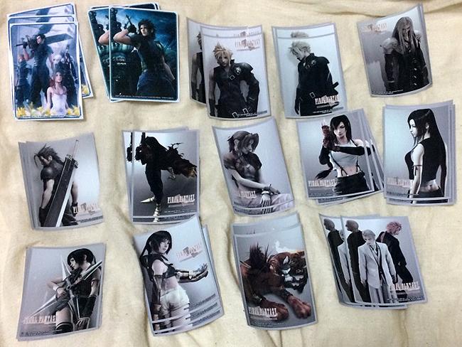 ファイナルファンタジー7 FF7 Ⅶ カード スリーブ 20種 各3枚 ダンガンロンパ ソードアートオンライン クラウド セフィロス エアリス 60枚_画像4