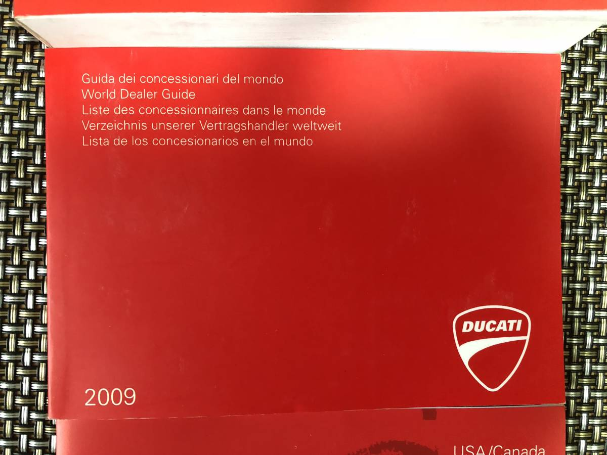 ... Ducati 1198S 1198 owner's manual world deale guide Ducati owner USA  Canada 3 pcs. set ...