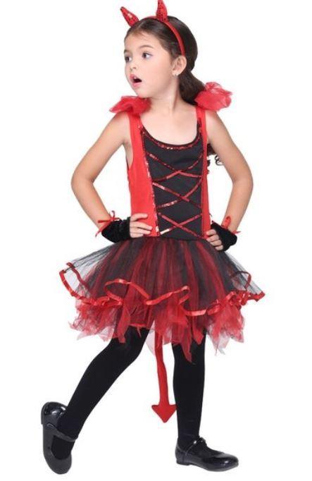 ハロウィン コスプレ 仮装 衣装 キッズ 女の子 子供服 デビル 悪魔 魔女 コスチューム かわいい セクシー 赤_画像2