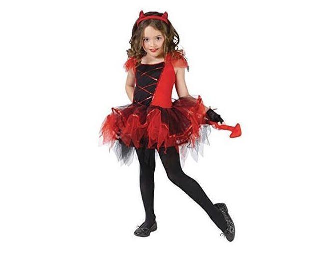 ハロウィン コスプレ 仮装 衣装 キッズ 女の子 子供服 デビル 悪魔 魔女 コスチューム かわいい セクシー 赤_画像1