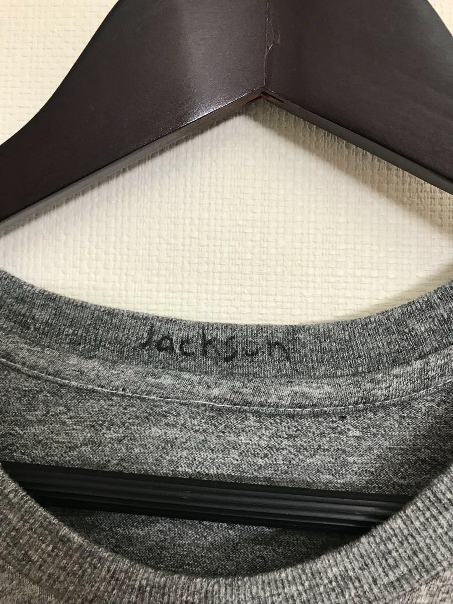 美品 JACKOSN MATISSE ジャクソンマティス スマイル Tシャツ 霜降りグレー サイズS_画像3