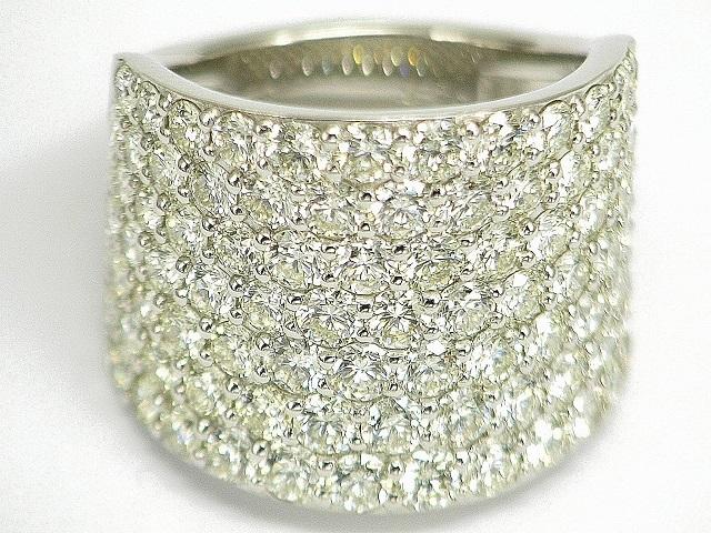 【珠寶Honpo】豪華5.00ct天然鑽石PT900名人戒指 編號:k340657831