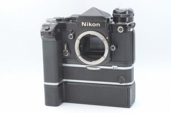一円出品売り切り!! Nikon ニコン F 黒 デイリースポーツ刻印 MD-2 MD-1 #70