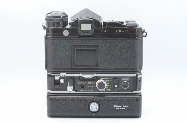 一円出品売り切り!! Nikon ニコン F 黒 デイリースポーツ刻印 MD-2 MD-1 #70_画像3