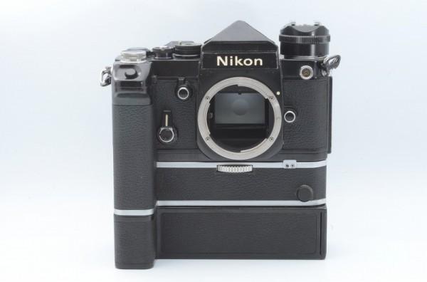 一円出品売り切り!! Nikon ニコン F 黒 デイリースポーツ刻印 MD-2 MD-1 #70_画像2
