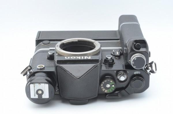 一円出品売り切り!! Nikon ニコン F 黒 デイリースポーツ刻印 MD-2 MD-1 #70_画像4