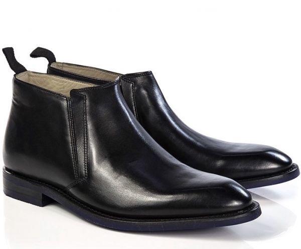CLARKS 27cm ブーツ ブラック 黒 レザー 革 ブーツ サイドゴア レースアップ フォーマル ビジネス 黒 スリッポン ローファー 663_画像1