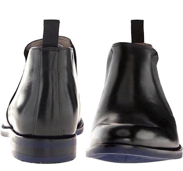 CLARKS 27cm ブーツ ブラック 黒 レザー 革 ブーツ サイドゴア レースアップ フォーマル ビジネス 黒 スリッポン ローファー 663_画像3