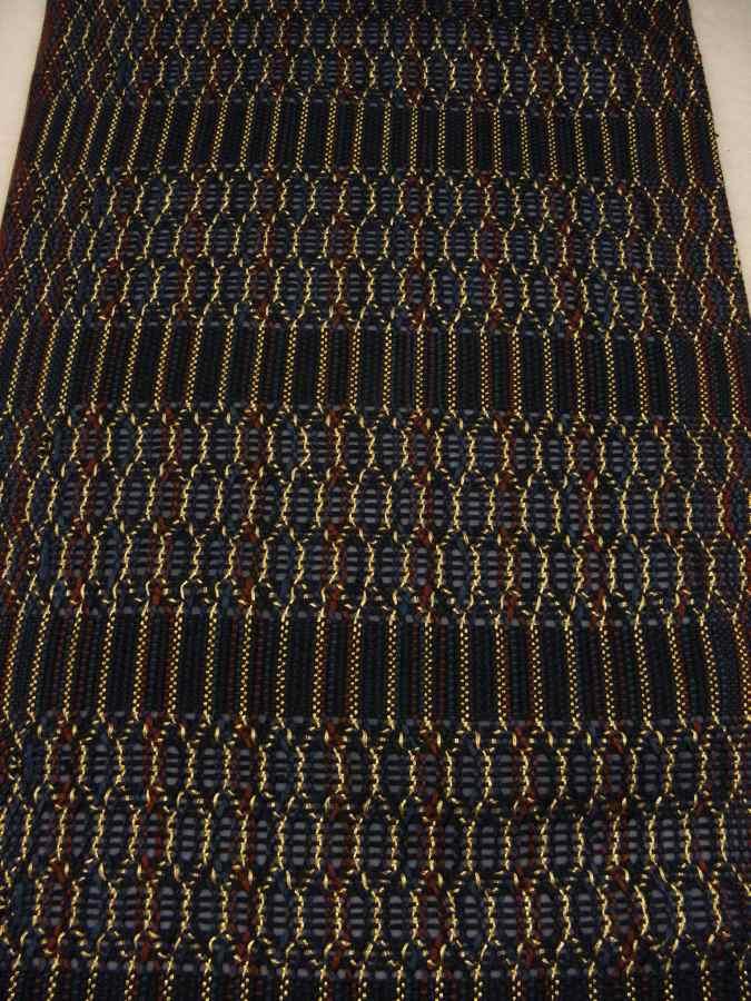 【帯喜楽】マ5-13●高級袋帯●未使用品●両面仕様●縦縞に透かし段縞柄_画像3